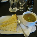 A sandwich and soup....both delicious....at the Courtyard, Marriott.