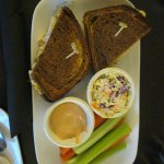 A tasty Rueben sandwich with coleslaw at The Bistro, Courtyard, Marriott.