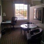 Junior suite sitting area and work desk