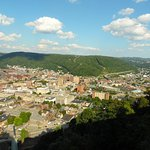 A view of Johnstown from near the top of the Inclined Plane before arriving at the top station.
