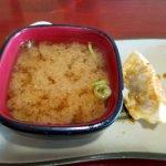 REAL miso soup w/ gyoza