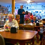 Eclectic dining area and used bood store.- Falling rock cafe, Munising