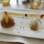 Tarte tatin, glace au caramel beurre salé