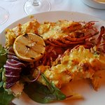Lobster thermidor in mustard sauce