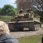 Only working tiger tank in the world, Tiger 131 in the arena.