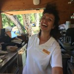 Magda's face says it all! Friendly and welcoming and always has time for you even when she's bus