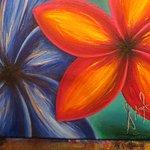 Plumeria/ Frangipani art work by local artist Melanie I