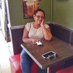 My sister waiting