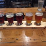 Flight of Beers from Brewery Ommegang
