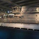 captured World War II German submarine