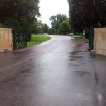 The access to the cemetery . There is a big free parking