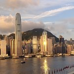 view across Victoria Harbour to Hong Kong Island