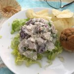 My chicken salad plate--special request.