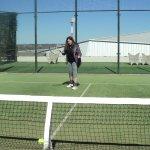 una de las canchas de tenis