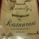 The menu front