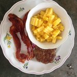 Made in house country sausage, local bacon and pina