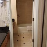 large two room bathroom in the corner suite