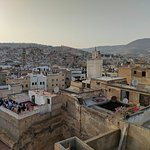 Terrace view overlooking Fes medina