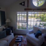 Float In cottage - excellent views of the cove and comfortable living area.