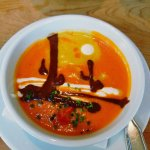 Painted Desert soup - beautiful and delicious.