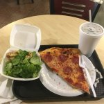 Pizza Combo with salad and drink $7