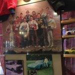 NASCAR photo on the wall