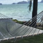 A lonely hammock at the Phulay Bay, A Ritz Carlton Reserve