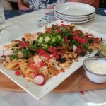 Pork sope and large nachos. So good!
