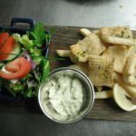 Salt & Pepper Squid - Fresh Squid, lightly fried, served with Chips & Salad...The Best around!!
