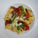 vegitarian cheese stuffed rigatoni sweet red peppers, black olives and capers