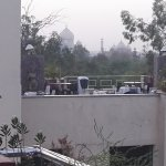 View of Taj Mahal from the roof top restaurant
