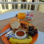 Fantastic breakfast on the rooftop terrace
