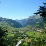 Vistas desde la montaña a Grindewald