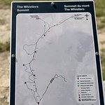 Road Map for hiking on the peak
