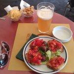 Bière et bruschettas