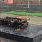 Preparing the pyre