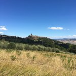 View of Montecatini val di Cecina from the road up from Paola's property
