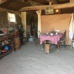 Original sod house from doorway