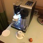 Nespresso coffee maker in my suite