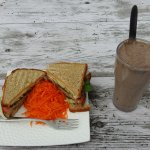 Guiltless Smoothie and Organic Club Sandwich