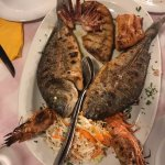Mixed grilled seafood for 2