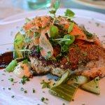 chicken caesar salad (overdressed)