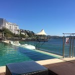 view from pool deck looking away from Porto City