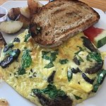 Goat Cheese Spinach Frittata
