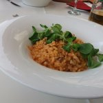 Risotto with octopus and smoked sausage