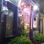 Modest entry way to Lilly's Cafe