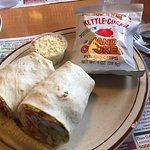 Chicken, tomato and avacado wrap