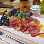 Tuna smoked from Sardinia with Bottarga