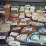 a quick snap of the cheese selection