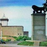 Нарвский замок и Шведский Лев